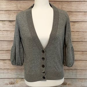 Vince Cropped Cardigan Sweater Cashmere Blend